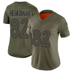 Limited Jeff Heuerman Women's Denver Broncos Camo 2019 Salute to Service Jersey - Nike